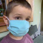 Dziecięca maseczka bawełniana dwuwarstwowa wielokrotnego użytku, tkanina medyczna EN ISO/IEC 17067:201 - 5szt